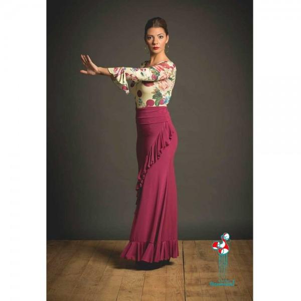 Falda de ensayo para baile flamenco. Modelo Valoria 2