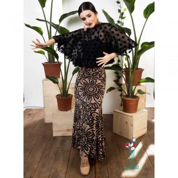 Falda de ensayo para baile flamenco. Modelo Alajar
