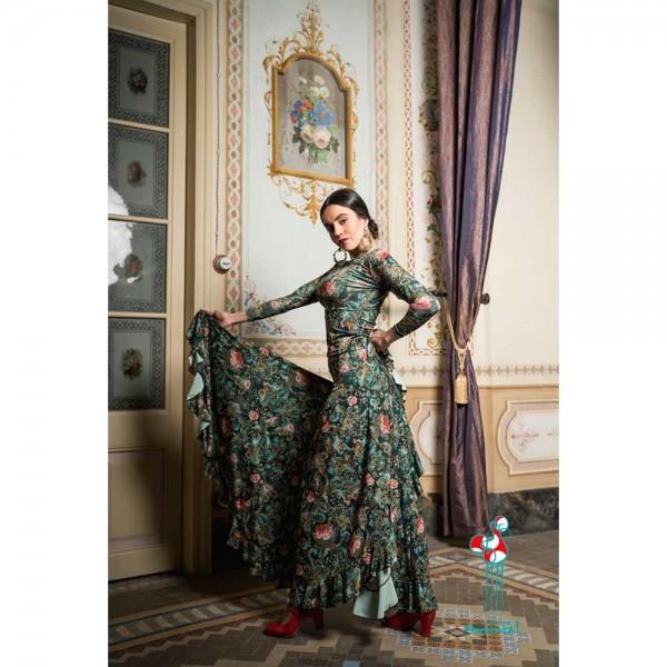 Falda de ensayo de baile flamenco. Modelo Sambuco