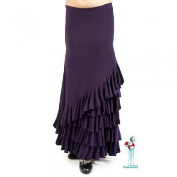 Falda flamenca de baile flamenco de uso profesional y ensayo. Modelo Loles