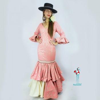 Traje de flamenca outlet modelo Ruiseñor. Talla 38