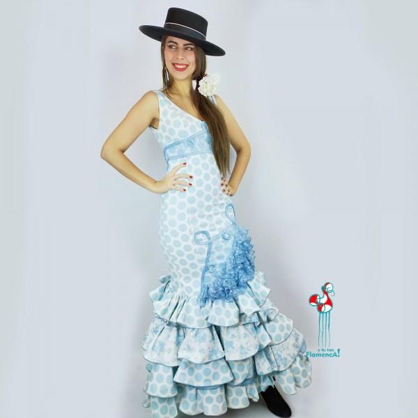 Traje de flamenca outlet modelo Dracena Talla 36