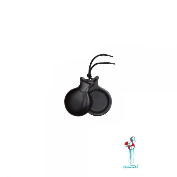 Castañuelas profesionales flamenca de fibra negra
