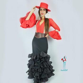 Falda flamenca. Modelo Serena. Talla 46