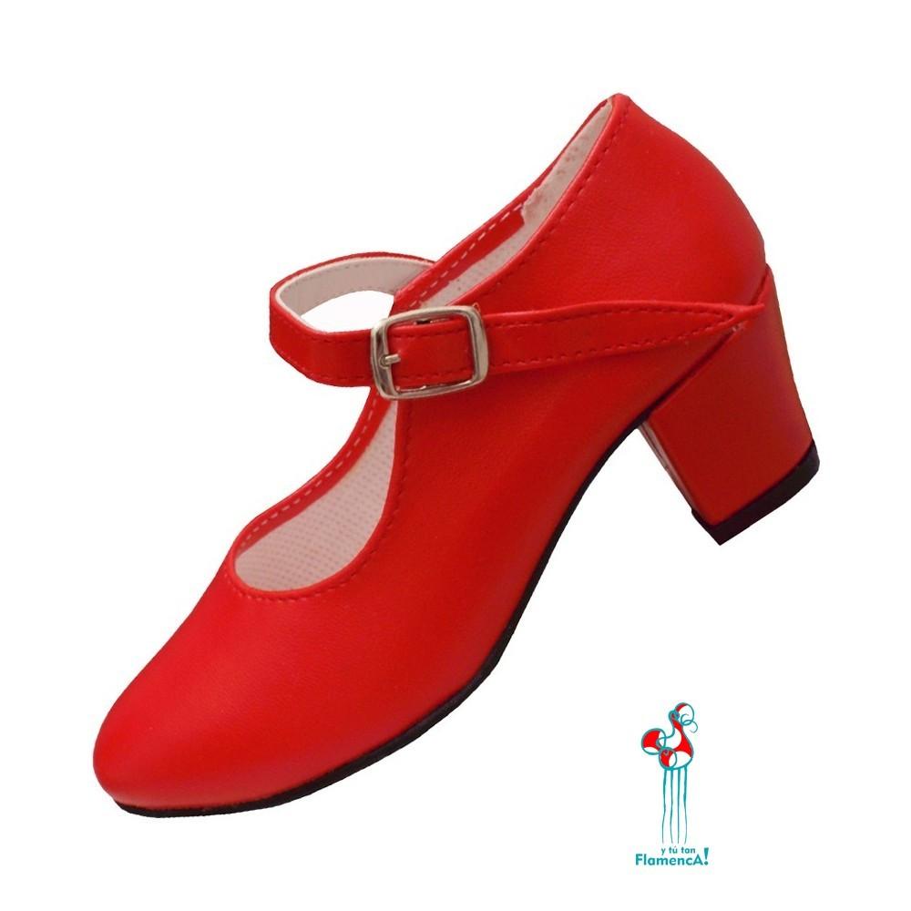 Zapato flamenco rojo