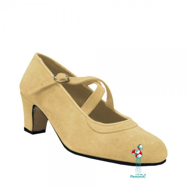 Zapato flamenco amateur beige