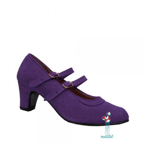 Zapato flamenco amateur lavanda dos correas