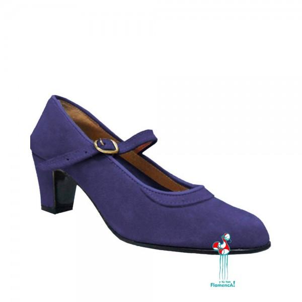 Zapato flamenco amateur morado una correa