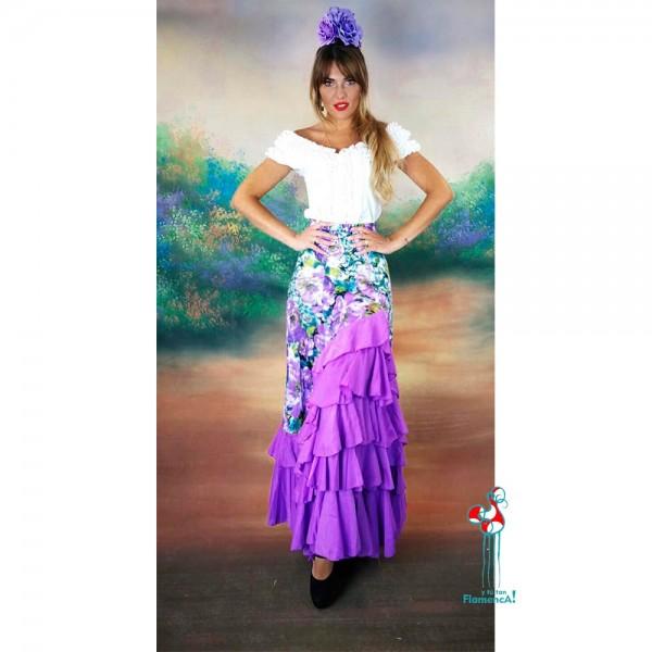 Camisa de flamenca blanca