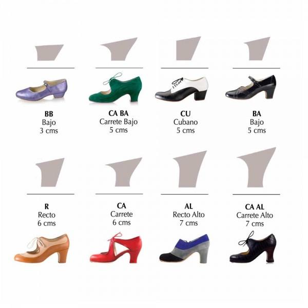 Zapato de flamenco. Modelo Blutcher